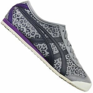 ASICS-ONITSUKA-TIGER-MEXICO-66-LEOPARD-WOMEN-039-S-SNEAKERS-D46RJ-1316-SHOES-GREY