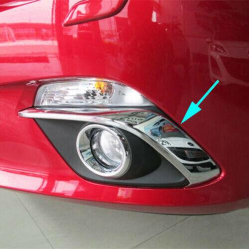 For Mazda 3 BM Axela 2014 15 16 Chrome Front Fog Lamp Cover Trim Eyebrow Garnish