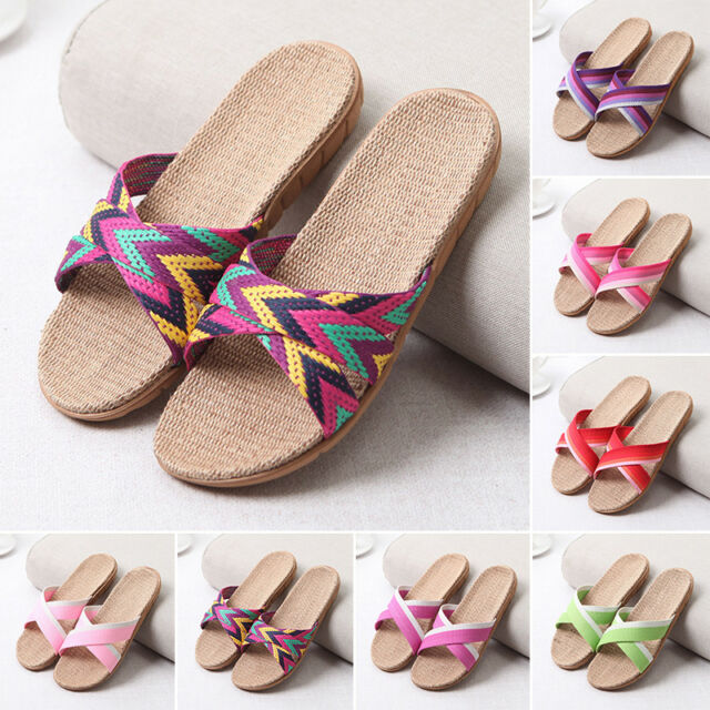 3e47b444b New Womens Fashion Anti-slip Home Indoor Summer Open Toe Flats Shoes  Slippers