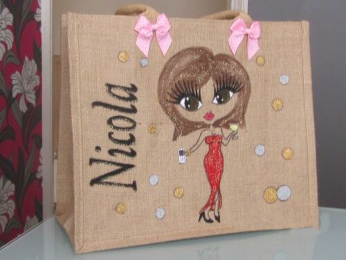 PERSONALISED JUTE SHOPPERS S//M//L  ALL HAND PAINTED UNIQUE GIFTS GIRLS