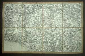 Region-North-Lorient-Quimperle-Finistere-Card-Geographic-Antique-19eme