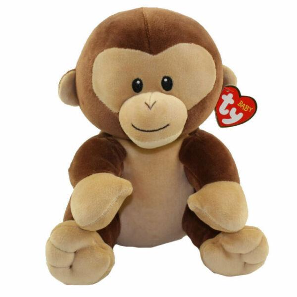 BANANA the Monkey Medium Size - 8 inch Baby TY - New BabyTy Stuffed Animal