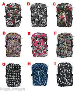 NEW-SKULL-RUCKSACK-Backpack-Rock-Emo-Goth-Crossbone-Skate-Heart-College-Uni-Bag