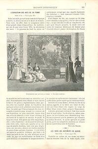 Exposition-des-Arts-de-la-Femme-Gobelins-a-Paris-GRAVURE-ANTIQUE-OLD-PRINT-1892