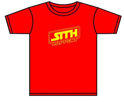 Star WARS T-shirt tout-petit bébé Darth Vader Sith arrive rouge ou noir 0-11 ans