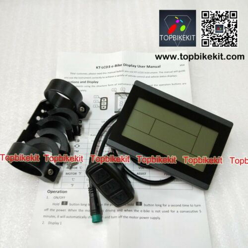 extend Ebike KT Controller Kit 24V//36V 250W LCD3+108X throttle+KT-V12L+Brake