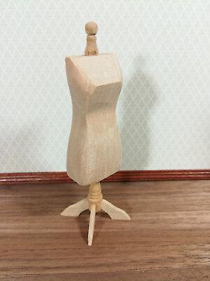 Dollhouse Miniature Unfinished Dressmakers Mannequin Tailor Dummy 1:12 Scale