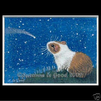ACEO GUINEA PIG and CAPYBARA PRINT FROM ORIGINAL PAINTING BYSUZANNE LE GOOD