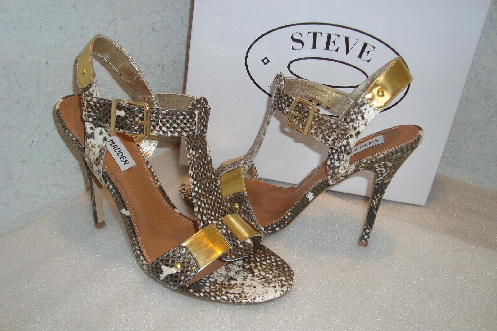 Steve Madden Damenschuhe NWB Reya Natural Snake Sandales Schuhes 9 MED NEU