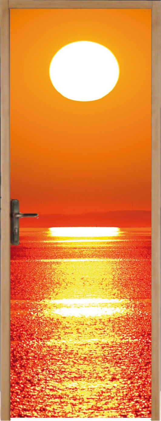 Adhesivo para Puerta Acostado Del Sol 83x204cm Ref 168