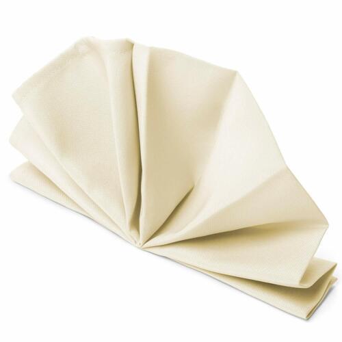 "20/"" x 20/"" Plain Polyester NAPKINS Wedding Table Cloth Linen Dinner Soft Fabric"