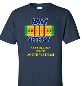 USS-SHELTON-DD-790-NAVY-VIETNAM-CAMPAIGN-RIBBON-amp-VINYL-SHIRT-SWEAT