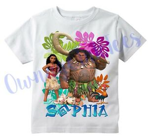 moana maui custom t shirt personalize birthday add name ebay