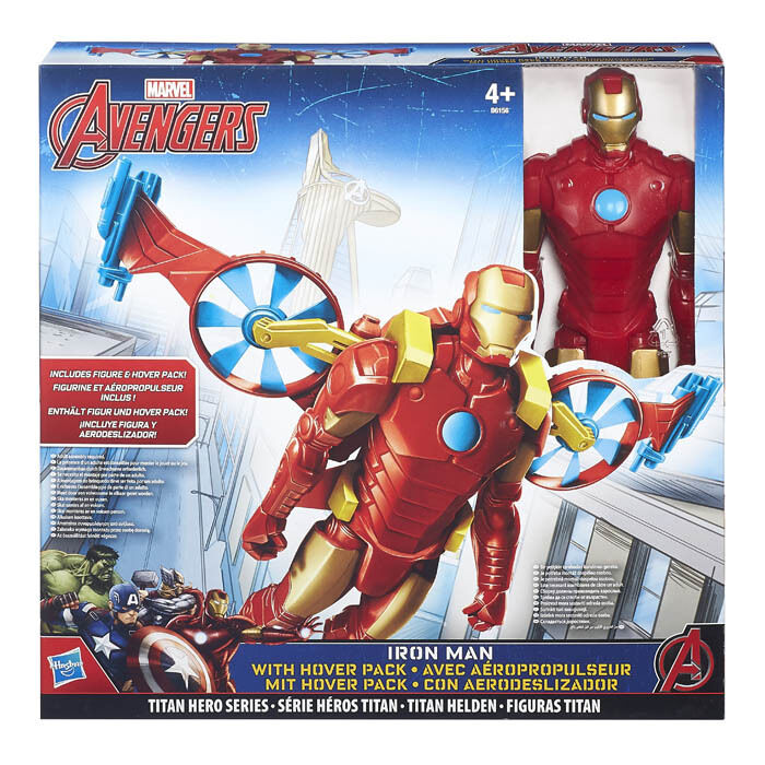 Avengers MARVEL Iron Man With Hover Pack Titan Hero Series Action Figure 30 cm.