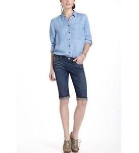 Malibu Crop Lavaggio Pant Jeans medio 27 Ag Adriano lunghi Pantaloncini Sz Goldschmied wBIqqp8t