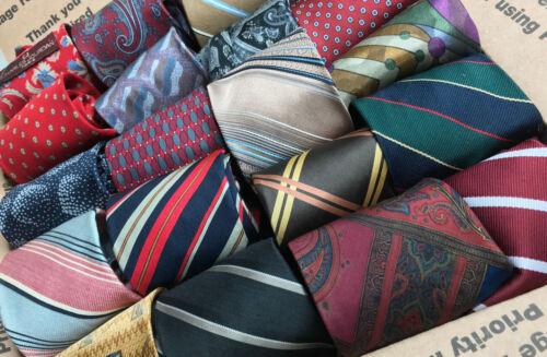 """60 Men's Mostly Silk Ties Dress Suit Skinny 3""""-3.5"""