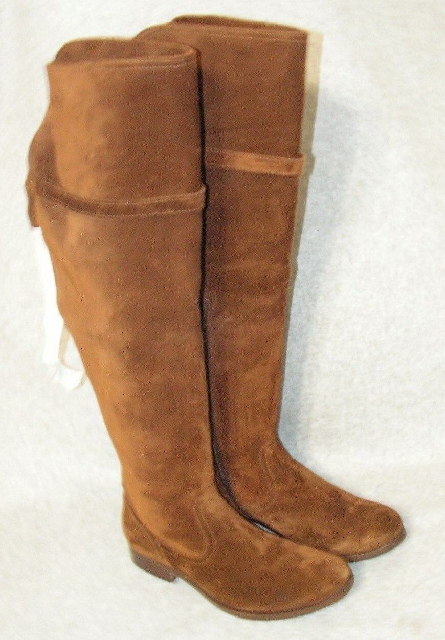 Frye Womens Clara Tassel Over The Knee Suede Leather Boots size 7 B