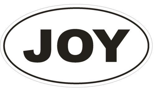 JOY Oval Bumper Sticker or Helmet Sticker D565 Laptop Cell Euro Oval
