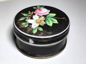 Antique-Hand-Painted-Porcelain-Creme-Container