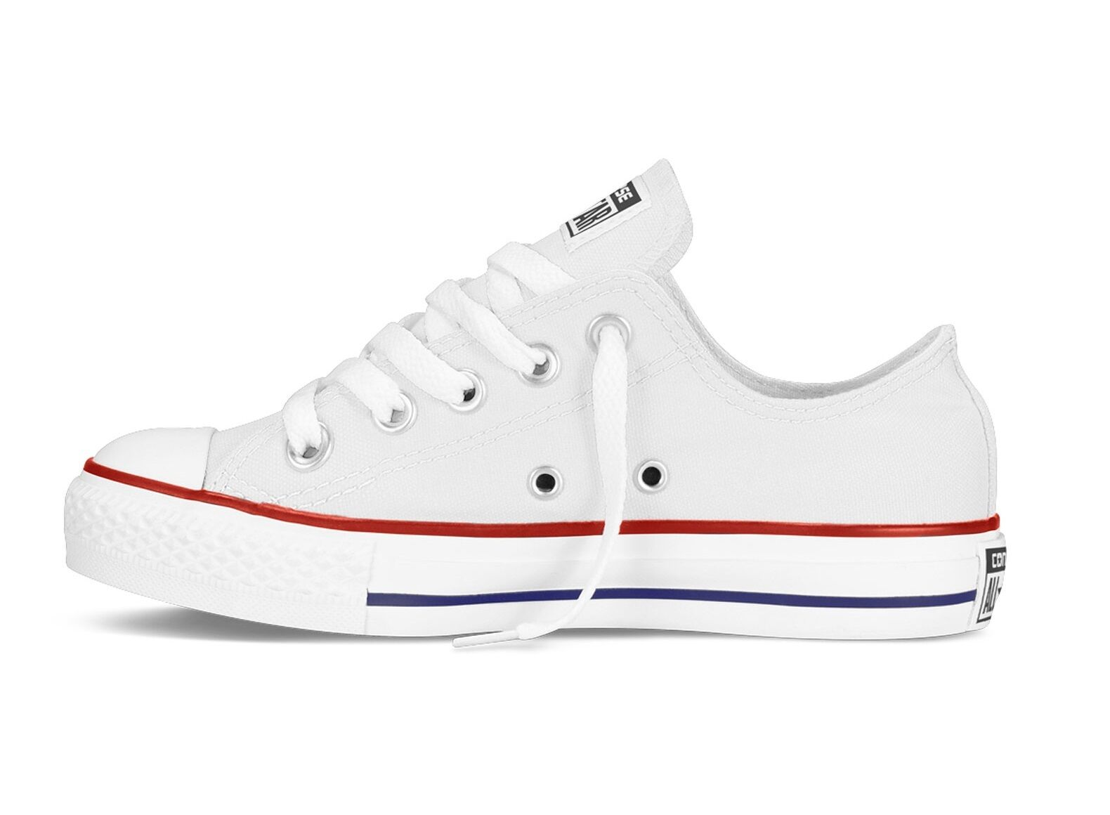 Converse Ct Ox 3J256C Kids Unisex Optical White Trainers UK 1 Youth EU 33