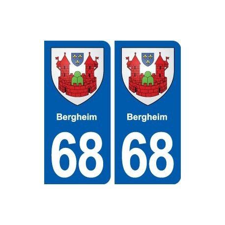 68 Bergheim blason autocollant plaque stickers ville droits
