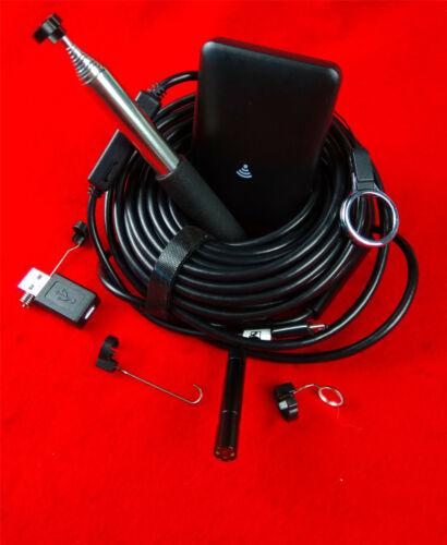 15M WIFI Endoscope Camera Borescope Endoscopy 8.5MM LED USB For Android iOS