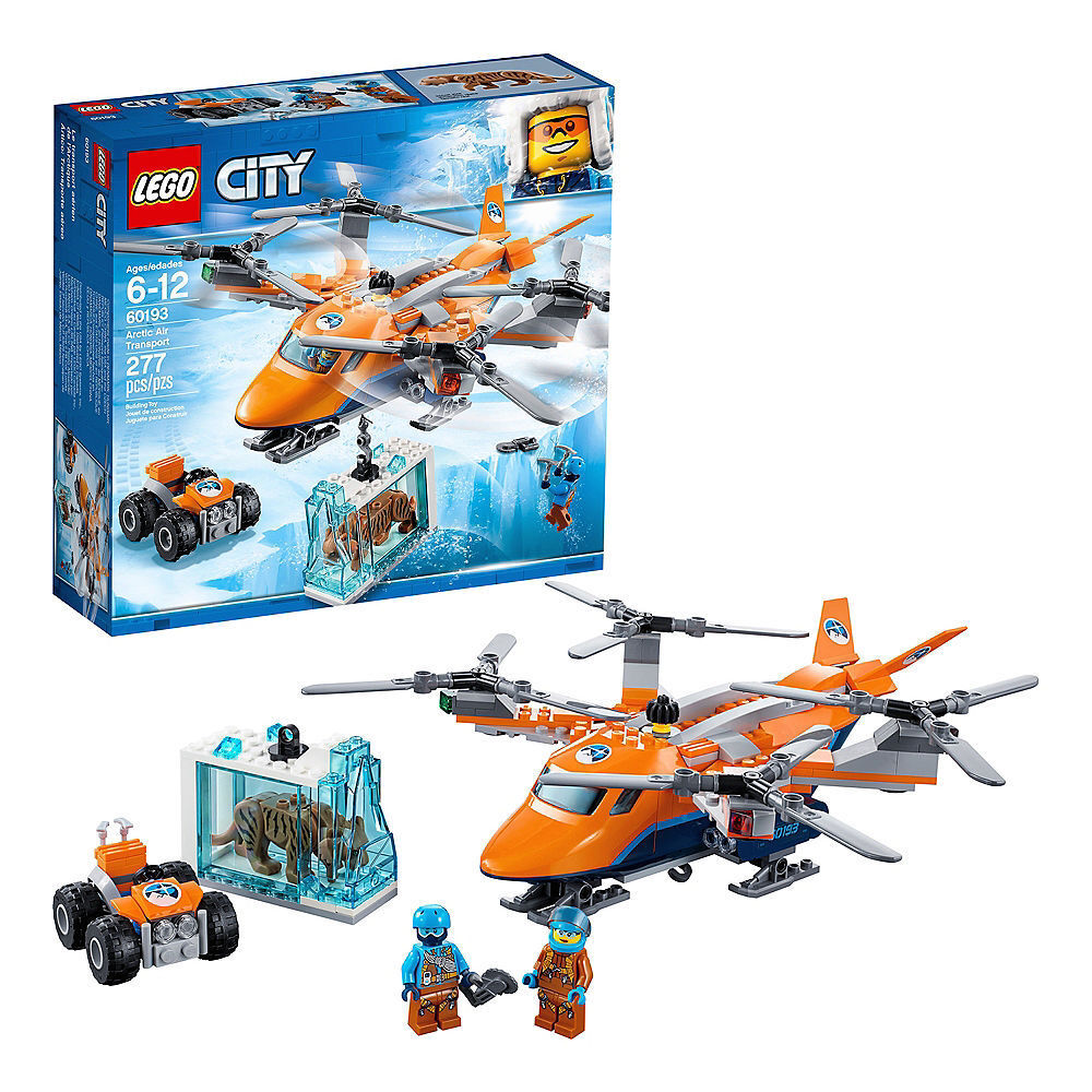 Lego City Arctic Air Transport 277pc - 60193 Saber-toothed Tiger Figure