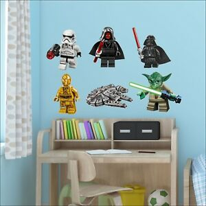 Star-Wars-Lego-Men-Stormtrooper-Darth-Vader-Maul-Wall-Sticker-Single-or-All-6
