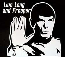 Star Trek SPOCK Live Long and Prosper Vinyl Decal - for car, laptop, whatever!