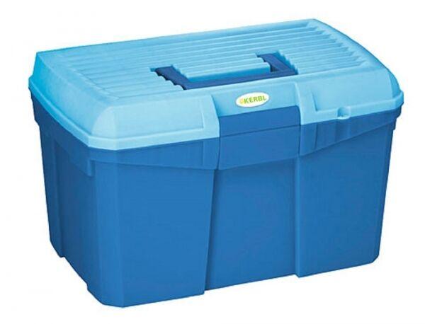 Kerbl 321757 Putzbox Siena mit herausnehmbaren Einsatz marine hellblau