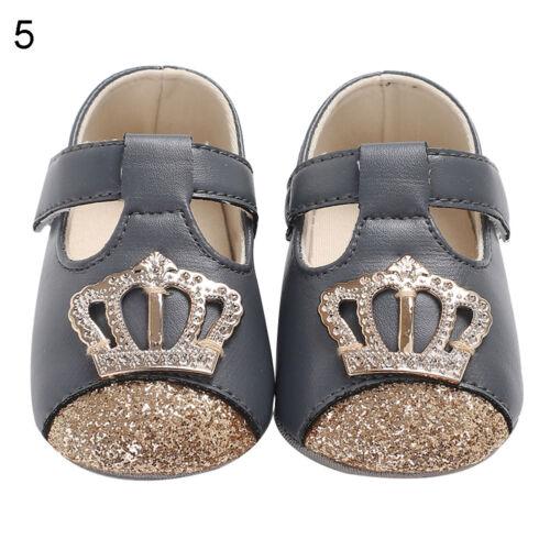 EG/_ LK/_ Fashion Toddler Baby Girls Anti-Slip Soft Sole Summer Crown Prewalker Sh