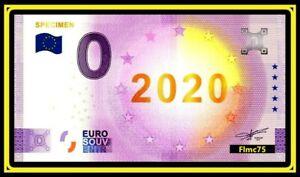 Billet-Touristique-Souvenir-0-Euro-SPECIMEN-2020-GOLD-Anniversaire-5-ans