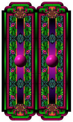 Stained Glass window cling - PURPLE