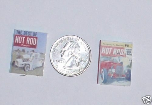 Dollhouse Miniature Vintage Car Magazines Books  1:12  h r  one inch scale