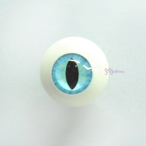 Hujoo Baby Suve Is Ted 1/6 bjd Dollfie Acrylic Full Round Cat Eye 10mm Blue