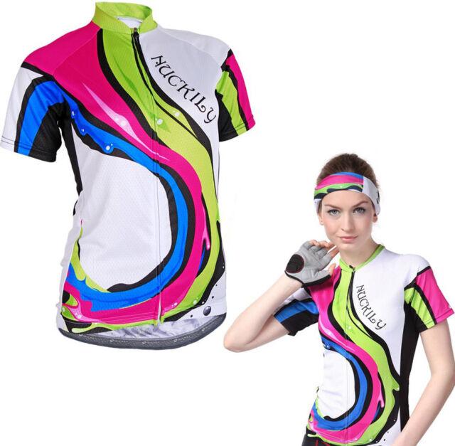 Women/'s Cycling Jersey Bicycle Short Sleeve Shirt Cycling Top Bike Clothing CD10