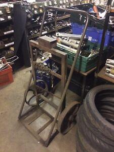 Details about Gas Cylinder Twin Bottle Vintage Trolley ARGON CO2 OXYGEN  ACETYLENE Sack Truck