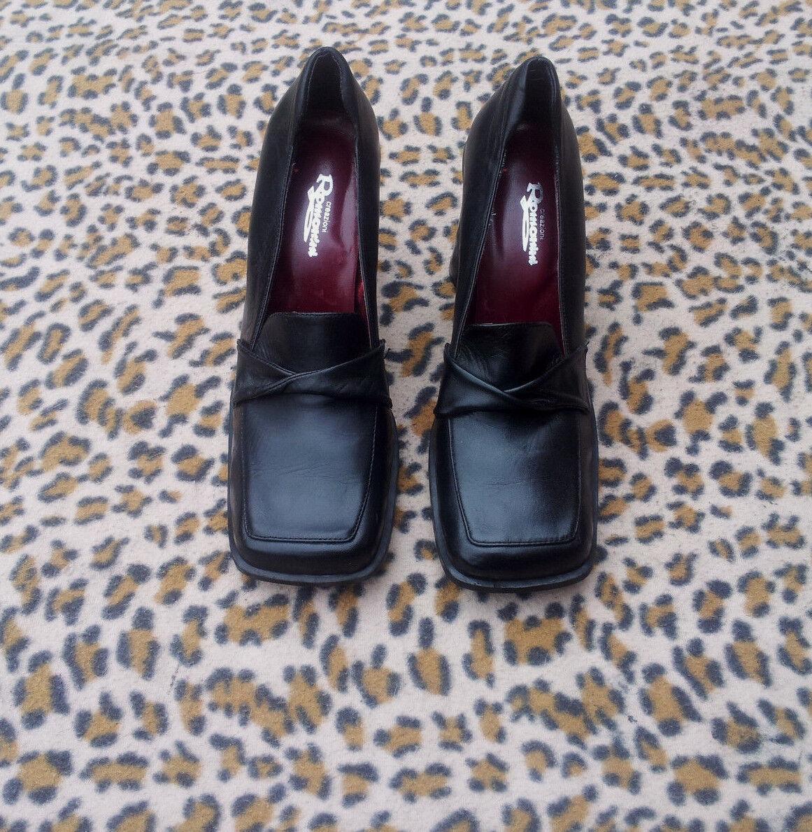roFemmeini roFemmeini roFemmeini creazioni vintage de chaussures noires taille 38, 93790d