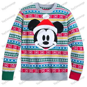 Details about DISNEY Store CHRISTMAS 2018 SWEATER for MEN Holiday MICKEY MOUSE Pick Size NWT