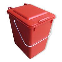 Neue Futtertonne Plastikeimer Tierfutter Box Behälter Mit Deckel 10 Liter Rot.