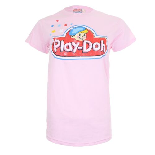 Play Doh Cute Girly Tee Ladies Womens T-Shirt Pink
