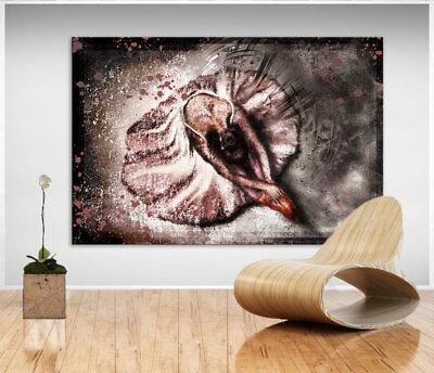 Abstrakte Wandbilder Ballerina Tanz Bild Leinwand Kunst Bilder Kunstdruck D1489