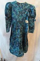 Girls Jayne Copeland Multi-color Dress With Built In Crinoline Ruffle Size 8