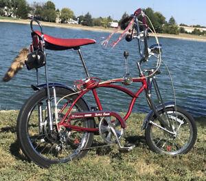 1972 Schwinn 5 Speed Apple Krate Stingray Bicycle with original rear disc brake.