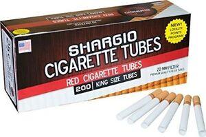 Shargio-Red-Filtered-Regular-Cigarette-Tubes-King-1-Box-200-Ct
