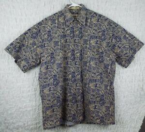 Vintage-Campia-Moda-Hawaiian-Shirt-Aloha-Floral-Medium-Rare-chill-beach-surf