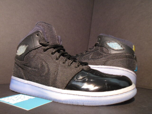 Nike Air Jordan I Retro 1 '95 TXT BLACK GAMMA blueE MAIZE XI 11 616369-089 9