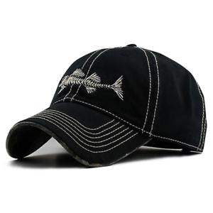 New Fish Skeleton Hat Fishing Baseball Cap Trucker Hats For Men Casual Fish Bone