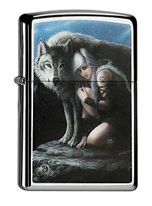Zippo-Anne-Stoke-Wolves-039-Theme-Black-Ice-60000336-Collection-2015