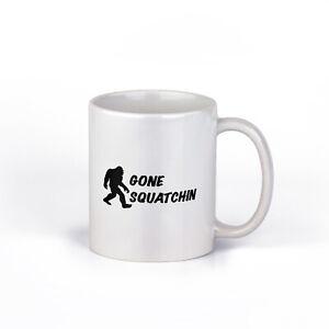 Gone Squatchin Coffee Mug | Bigfoot Coffee Cup | 11-Ounce Mug